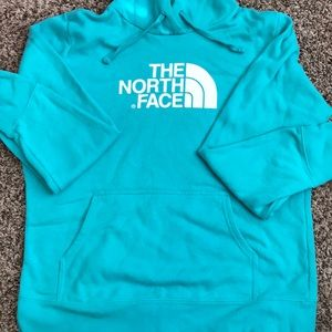 North Face Teal Hoodie size Large